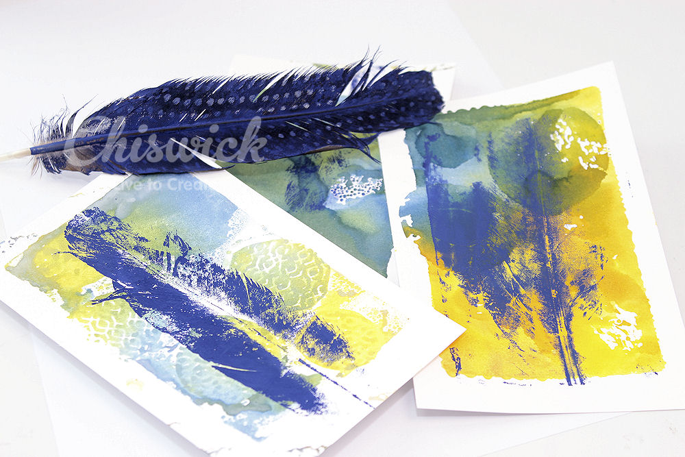 printing with feathers
