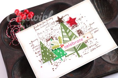 Stamped Christmas Cards with Chiswick Stamps – Weekend inspiration.