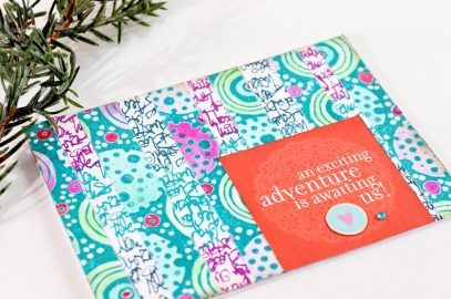 Bargello Inspired Greeting Card using Carabelle Studio Stamps.