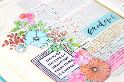 Blessed beyond measure – Bible journaling page.