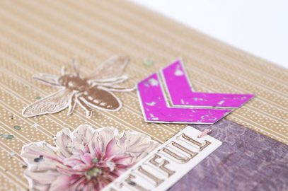 Butterfly Garden Single Page with foiled elements